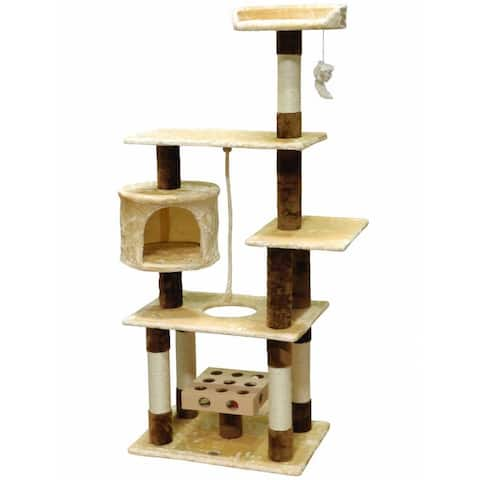 GoPetClub IQ Busy Box 67-inch Cat Tree