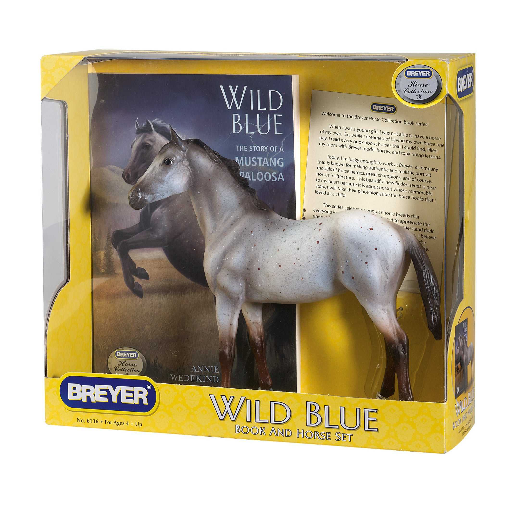 Breyer Horse Figurine And Book Set Wild Blue Overstock 10612959