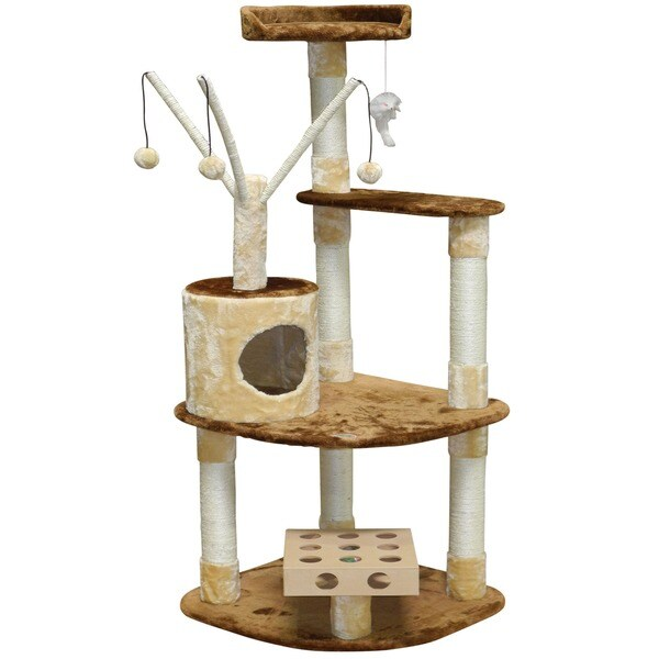 GoPetClub IQ Busy Box 60-inch Cat Tree