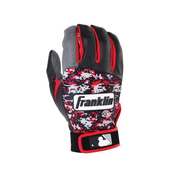 Franklin Sports Digitek Batting Glove Gray/Black/Red Digi Youth Small