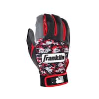 Franklin Sports Digitek Batting Glove Gray/Black/Red Digi Youth Small