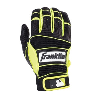 Franklin Sports Neo Classic II Batting Glove Black/Optic Yellow Youth Medium