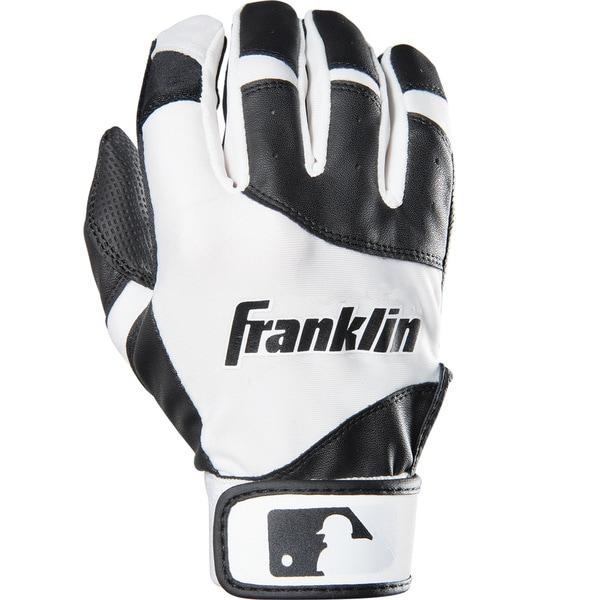 Franklin Sports Youth Flex Batting Glove Black/White Youth XX-Small