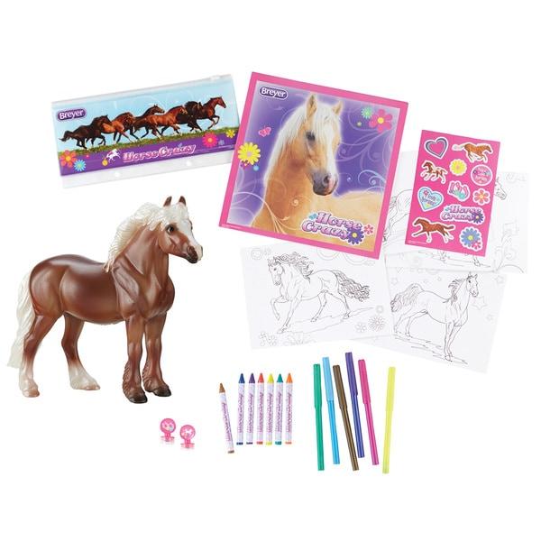 BREYER Stablemates Horse Crazy Real Horse Activity Set