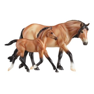 BREYER Classics Bay Dartmoor Pony Mare & Light Bay Foal Horses