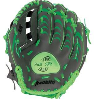 "Franklin Sports 10.5"" Infinite Web/Shok-Sorb Combo Teeball Glove (Option: Gray/Green-Right Handed Thrower)"