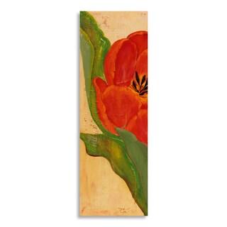 Gallery Direct Laura Gunn 'Tulip In Red' Birchwood