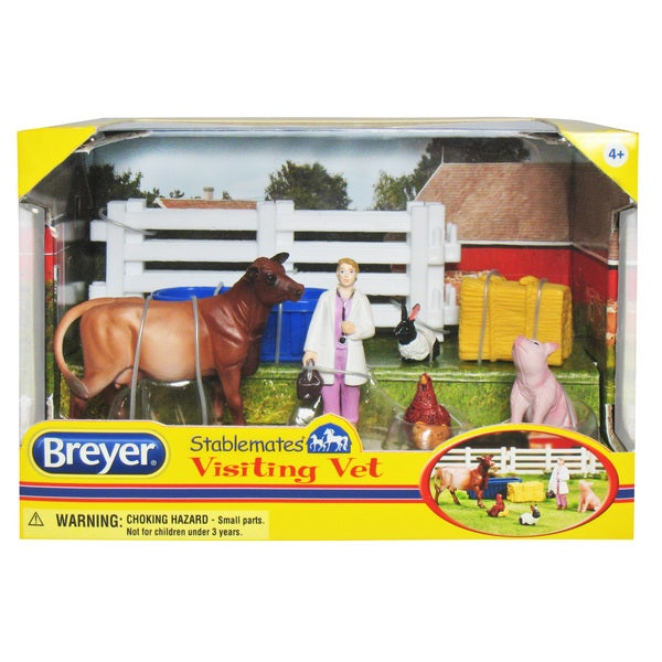 BREYER Stablemates Visiting Vet Play Set
