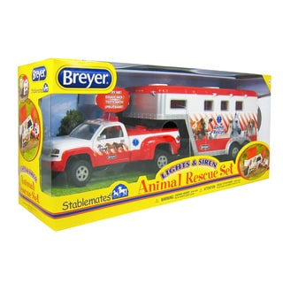 BREYER Stablemates Lights & Sirens Animal Rescue Set New