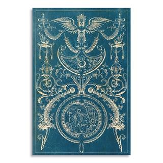 Gallery Direct Chiseled Decor in Blue I Print by New Era Original on Birchwood Wall Art