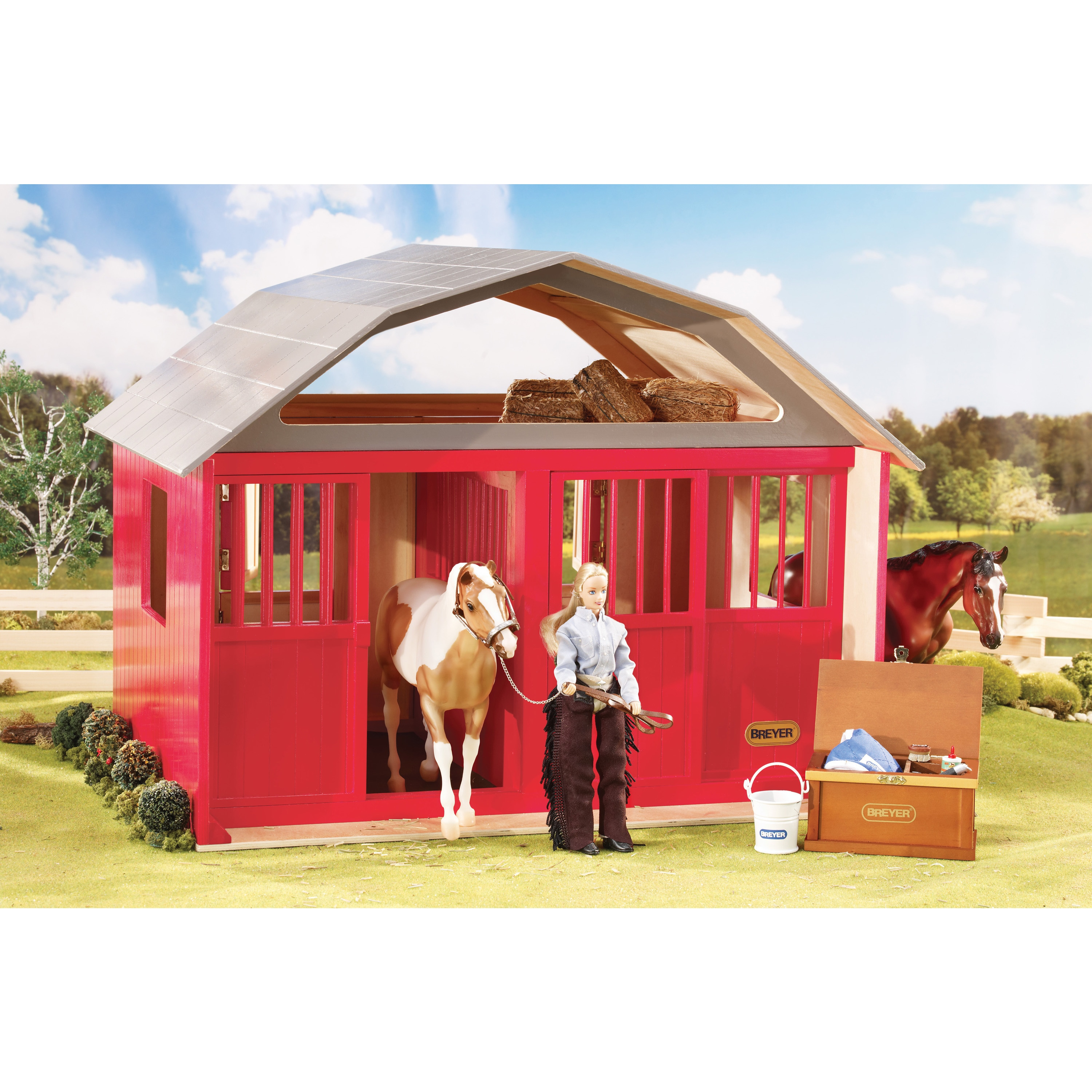 Reeves Breyer Traditional Series Two Stall Barn (G0197560...