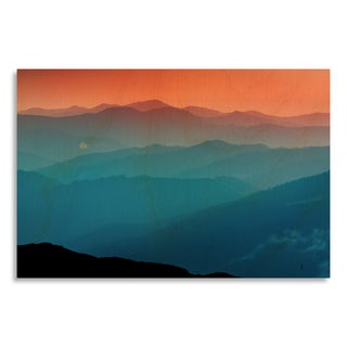 Gallery Direct Evening scene in Carpathians' Printed on Birchwood Wall Art Birchwood