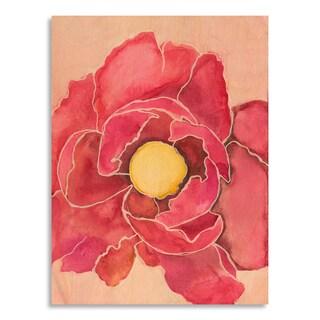 Gallery Direct Laura Gunn 'Poppy In Fuchsia' Printed on Birchwood Wall Art