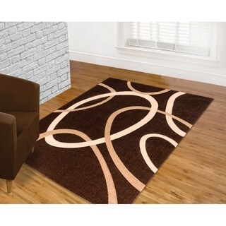 Contemporary Chocolate Area Rug (5'3 x 7'2)