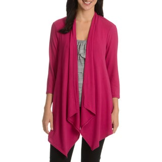 Sunny Leigh Women's Handkerchief Open Cardigan