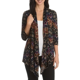 Sunny Leigh Women's Multicolor Print Open Cardigan
