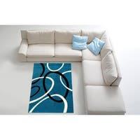Contemporary Blue Area Rug - 7'10 x 10'6