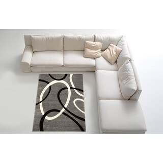 Contemporary Grey Area Rug (8' x 11')