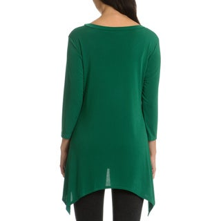Sunny Leigh Women's Solid Long Tunic