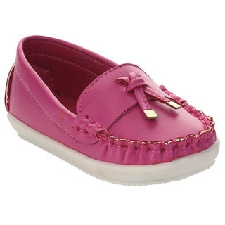 VIA PINKY BECCY-62B Children Girl Slide On Moccasin Top Flat Loafers