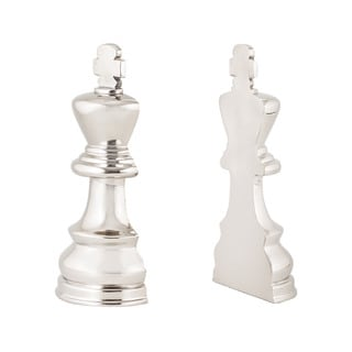 Sterling Chess Piece Book Ends