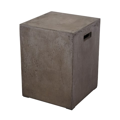 Dimond Home Square Handled Concrete Stool