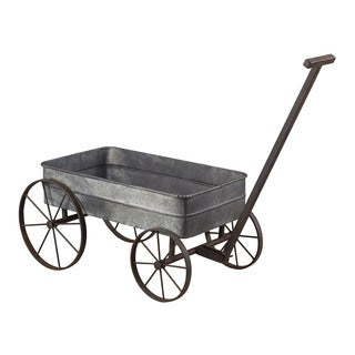 Sterling Metal Cart Planter