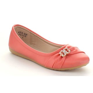 VIA PINKY ARIA-02F Girls' Comfort Slide On Casual Ballet Flat Shoes