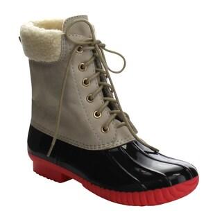 Da Viccino DA06 Women's Faux Fur Shearing Calf Rain Duck Boots