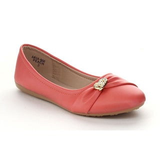 VIA PINKY ARIA-05F Girls' Slide On Casual Ballet Flat Shoes