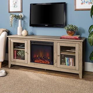 58-inch Driftwood Fireplace TV Stand with Doors|https://ak1.ostkcdn.com/images/products/10613285/P17684362.jpg?impolicy=medium