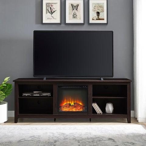 Espresso 70-inch Fireplace TV Stand