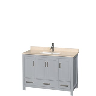 Wyndham Collection Sheffield 48-inch Gray Single Vanity, Undermount Square Sink