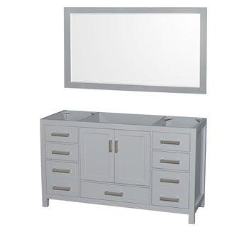Wyndham Collection Sheffield 60-inch Gray Single Vanity, 58-inch Mirror