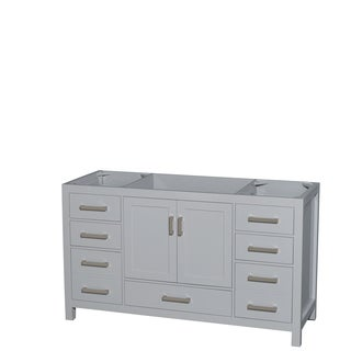 Wyndham Collection Sheffield 60-inch Gray Single Vanity