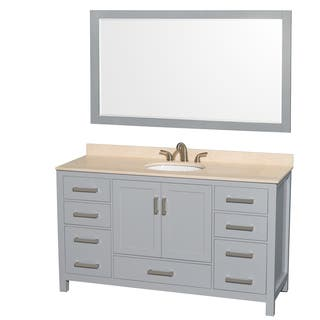 gray bathroom vanity with sink. Wyndham Collection Sheffield 60 inch Gray Single Vanity  Undermount Oval Sink 58 Grey Bathroom Vanities Cabinets For Less Overstock com