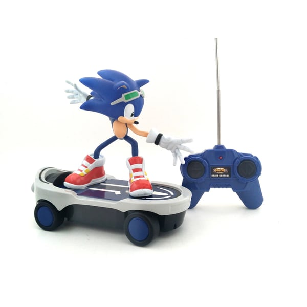 """Remote Control """"Sonic Free Riders"""" Sonic The Hedgehog RC Skateboard"""