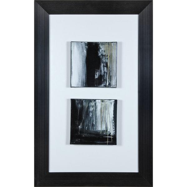 "Transitional Alanna Rectangular Framed Canvas Print 26"" x 41"" - Grey"
