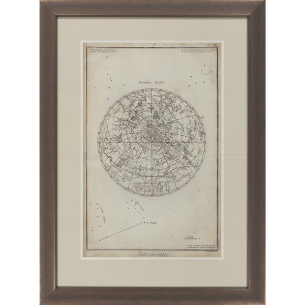 Map Pamela Rectangular Framed Giclee on Paper 30 x 40