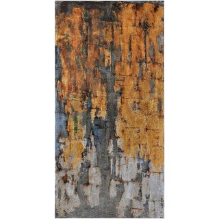 """Abstract Brandy Rectangular Oil-painting on Canvas 30"""" x 60"""""""