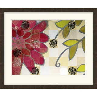 Floral Elaina Rectangular Framed Giclee on Paper 32x27-inch