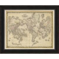 "Map Isabel Rectangular Framed Print 34"" x 28"""