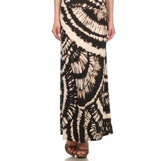 MOA Collection Women's Plus Size Tie-Dye Maxi High Waist Skirt