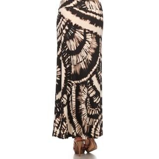 MOA Collection Women's Plus Size Tie-Dye Maxi High Waist Skirt