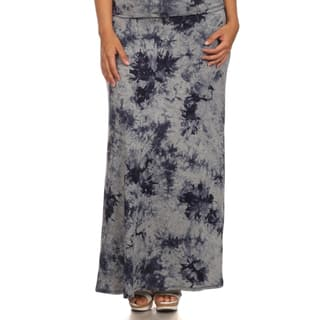 MOA Collection Women's Plus Size Full Tie-Dye Maxi High Waist Skirt|https://ak1.ostkcdn.com/images/products/10613424/P17684390.jpg?impolicy=medium
