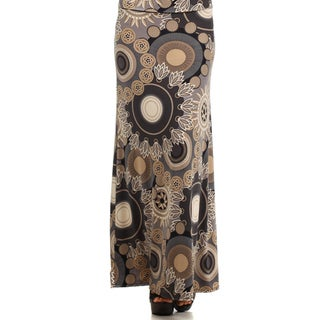 MOA Collection Women's Plus Size Mandala Print Maxi Skirt