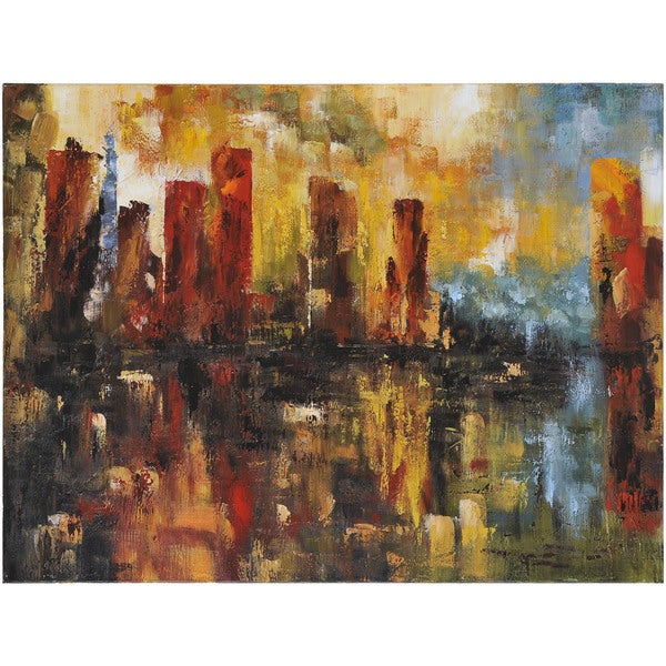 Shop Abstract Milana Rectangular Oil Painting On Canvas 36