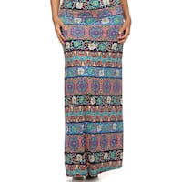MOA Collection Women's Plus Size Floral Print Maxi Skirt
