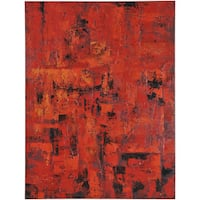 "Abstract Aubree Rectangular Oil-painting on Canvas 36"" x 48"""