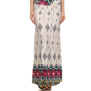 MOA Collection Women's Plus Paisley Maxi High-waisted Skirt